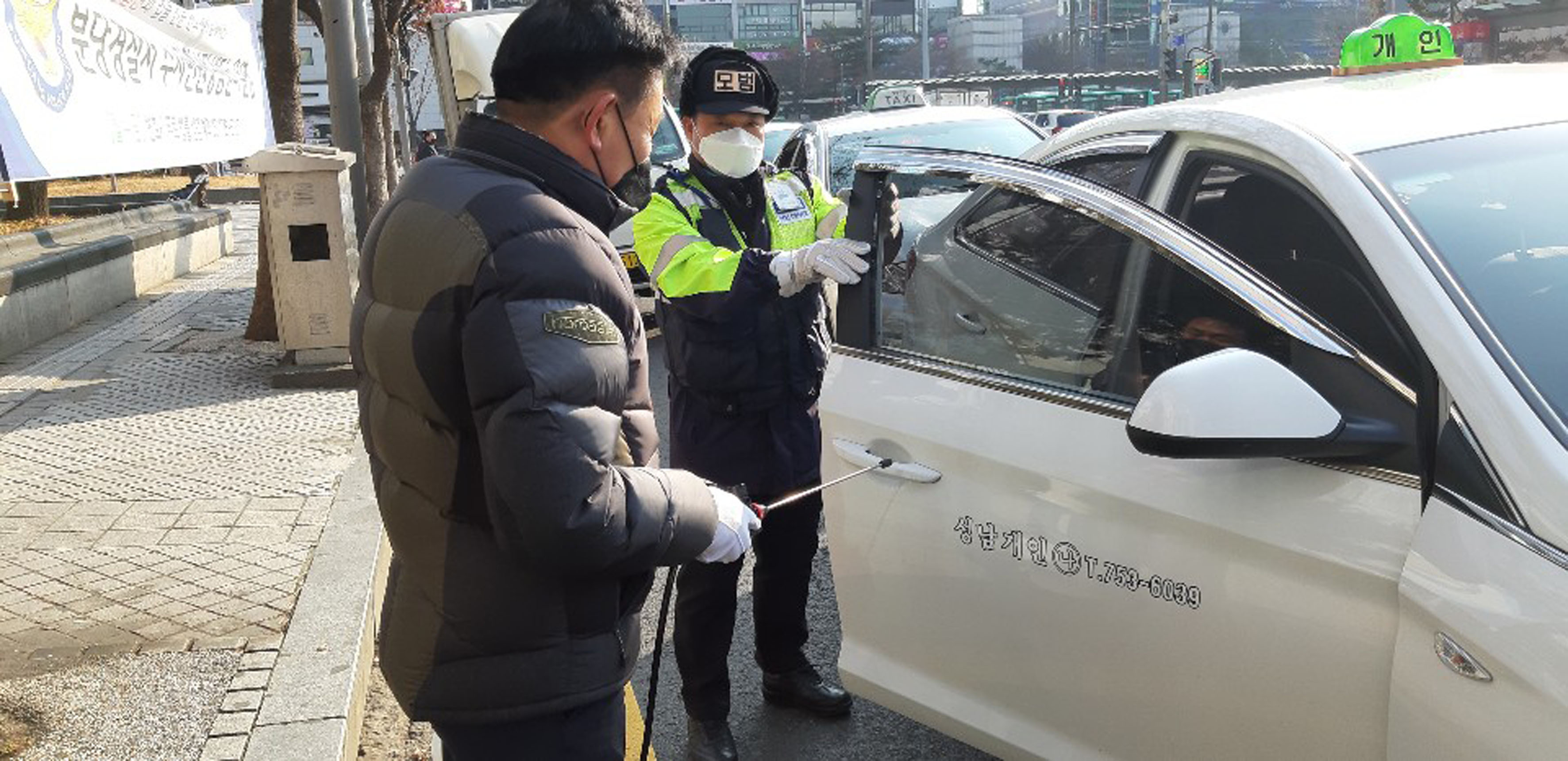 '신종 코로나 차단' 성남시 4693대 모든 택시·버스 매일 소독