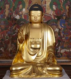 도유형문화재 / 성남 봉국사 목조아미타여래좌상(木造阿彌陀如來坐像)